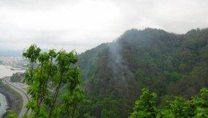 Giresun'daki orman yangını, 15,5 saat sonra kendiliğinden söndü