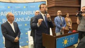 İmamoğlu, İYİ Parti'nin iftar programına katıldı,