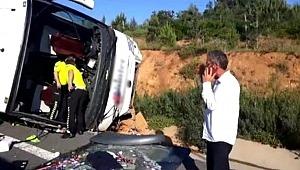 İstanbul'da trafik kazası! Otomobil yolcu otobüsüne çarptı: 1 ölü, 15 yaralı
