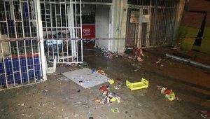 İstanbul'da markette önce patlama sonra yangın