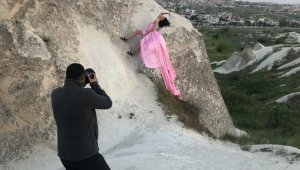 Kapadokya Rus turistlerin fotoğraf çekinme mekanı oldu