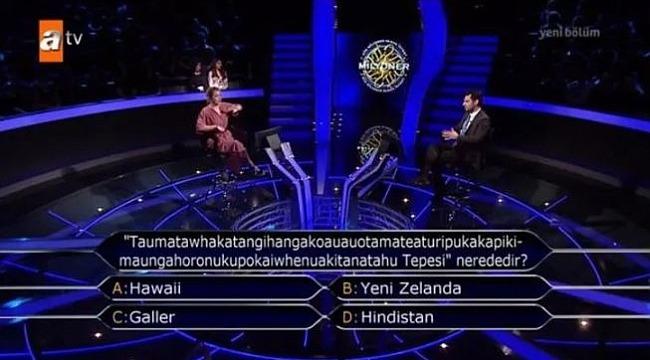 Kim Milyoner Olmak İster Yarışmasında Sorulan Soru, Sosyal Medyada Olay Oldu! Yok Böyle Bir Soru...