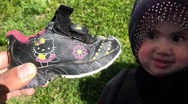 Küçük Nurcan'ın ayakkabısı bulundu