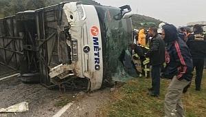 Muğla'da Feci Kaza! Yolcu Otobüsü Devrildi: 2 Ölü, 43 Yaralı