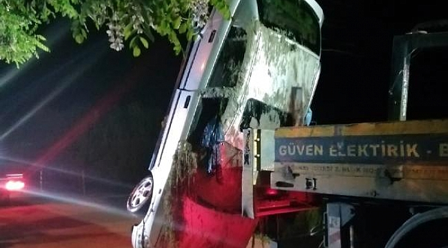 Otomobil sulama kanalına devrildi, Annesi ve eşi hayatını kaybetti