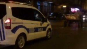 Polis ekipleri at arabasını kovaladı, bekçiler havaya ateş açtı