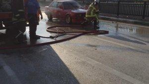 Seyir halinde giden otomobil alev alev yandı - Bursa Haberleri