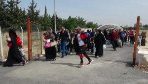 Suriyeliler sınırı koşarak geçiyor