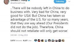 """Trump: """"Bir anlaşma yapılmazsa Çin büyük zarar görecek"""""""