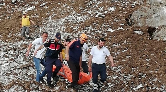 Uçuruma yuvarlanan 1 kişi ölü bulundu