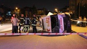 Ambulans ile otomobil çarpıştı:7 yaralı