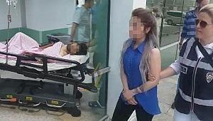 Boşanma aşamasında kocasını bıçakla yaraladı