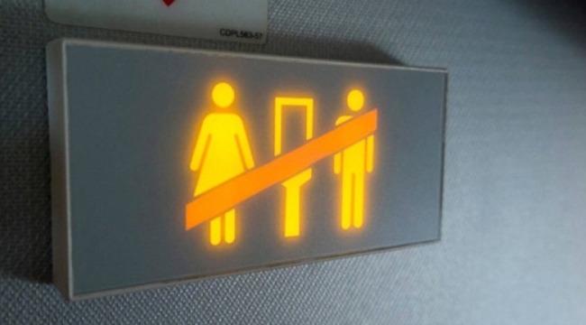 Dublin-İzmir uçağında rezalet... Tuvalette ilişkiye girdiler