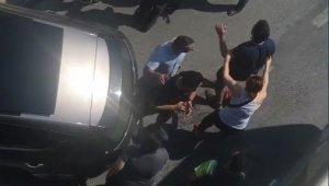 Kazazedeler birbirine girdi, Polis silah çekti