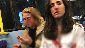 Lezbiyen çift bindikleri otobüste tekme tokat dövüldü!