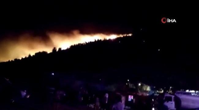 Muğla'da kontrol altına alınan yangın tekrar başladı! Korkulan oldu, yangın yönünü sahile çevirdi