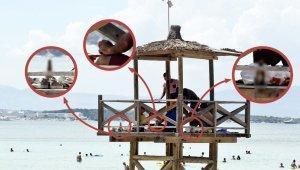 Ünlü tatil merkezindeki can kurtaran kulesinde skandal görüntü