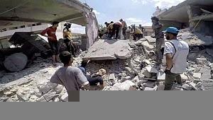 2 aylık bebek bombardımanda enkaz altından sağ çıkarıldı
