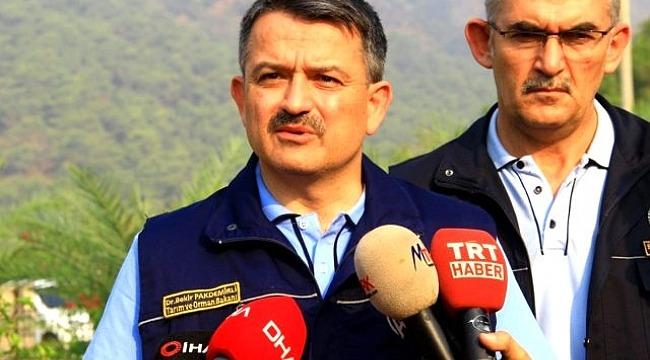 Bakan Pakdemirli'den Muğla'daki orman yangınlarıyla ilgili yeni açıklama