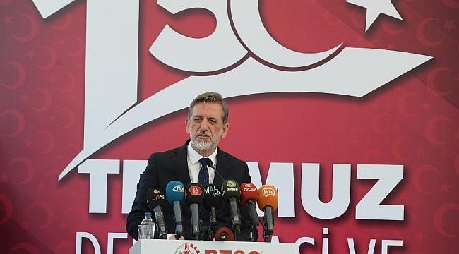 """Burkay: """"15 Temmuz Milli mücadelenin şanlı tarihimize altın harflerle işlendiği gündür"""" - Bursa Haberleri"""