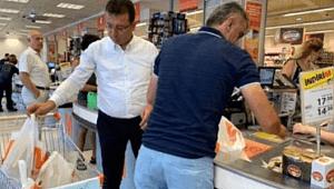 Ekrem İmamoğlu'nun tartışma yaratan market görüntüsü! Sosyal medya ikiye bölündü!