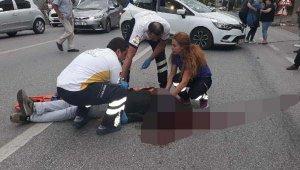Hatalı U dönüşü yapan otomobile motosiklet çarptı - Bursa Haberleri