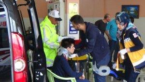 İşçi servisi kaza yaptı: 18 yaralı