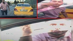 İstanbul'da taksici dehşeti! Kendisine yol vermeyen sürücünün kolunu kesti!