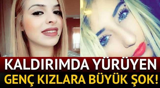 Kaldırımda yürüyen 2 genç kıza silahlı saldırı!