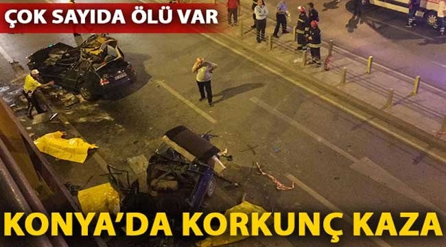 Konya'da katliam gibi trafik kazası! Çok sayıda ölü ve yaralı var