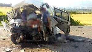 Manisa'da feci trafik kazası! Çok sayıda 6 ölü ve 10 yaralı