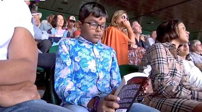 Nadal-Federer maçında kitap okuyan çocuk gündem oldu