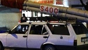 S-400 füzesini aracına bağlayıp 15 Temmuz zaferini kutladı - Bursa Haberleri