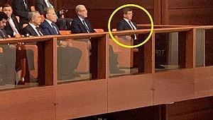TBMM'de 15 Temmuz Özel Oturumu'nu yeni parti kuracağı iddia edilen Ahmet Davutoğlu da izledi