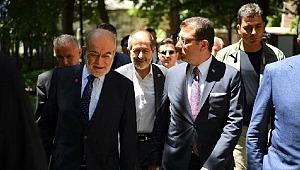 Temel Karamollaoğlu, İmamoğlu'nu ziyaret etti