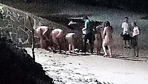 Turizmin cennetinde 5 kadın 1 erkek çırılçıplak yakalandı