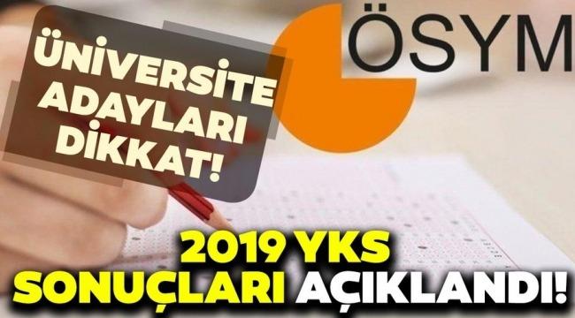 2019-YKS sonuçları açıklandı! ÖSYM Başkanı Halis Aygün sosyal medya üzerinden duyurdu!