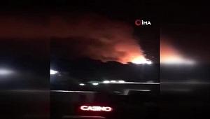 Çatalköy'de askeri bölge içindeki mühimmat deposunda patlama