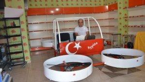 Hayali olan uçan arabayı 15 bin liraya yaptı
