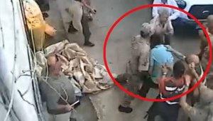İcra memuruna saldırının güvenlik kamerası görüntüsü ortaya çıktı