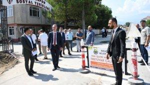 İnegöl Belediyesi'nden Burhaniye Mahallesi'ne otopark ve parke taşı - Bursa Haberleri