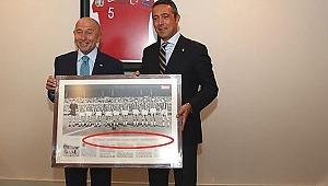 TFF Başkanı Nihat Özdemir'in Ali Koç'tan aldığı hediye tepki çekti