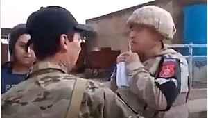Azeri uyruklu Rus askeri, Türk askerine