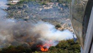 Bahçe temizliği yaparken orman yangınına sebep oldu