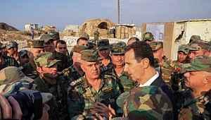 Beşar Esed, İdlib'te askerlerle bir araya geldi
