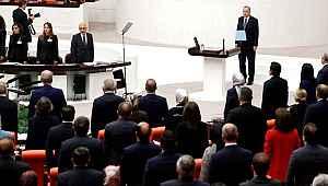 Cumhurbaşkanı Erdoğan'ın TBMM'ye giriş yaptığı anda CHP-İYİ Parti ittifakı ikiye bölündü