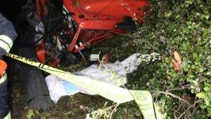 Düzce'de iki otomobile çarpan TIR, şarampole uçtu: 1 ölü