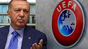 Erdoğan'dan UEFA'ya asker selamı çıkışı,