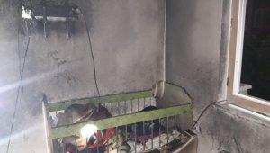 İki yaşındaki çocuk yangında hayatını kaybetti