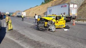 Kuzey Çevre Otoyolunda feci kaza: 5 yaralı